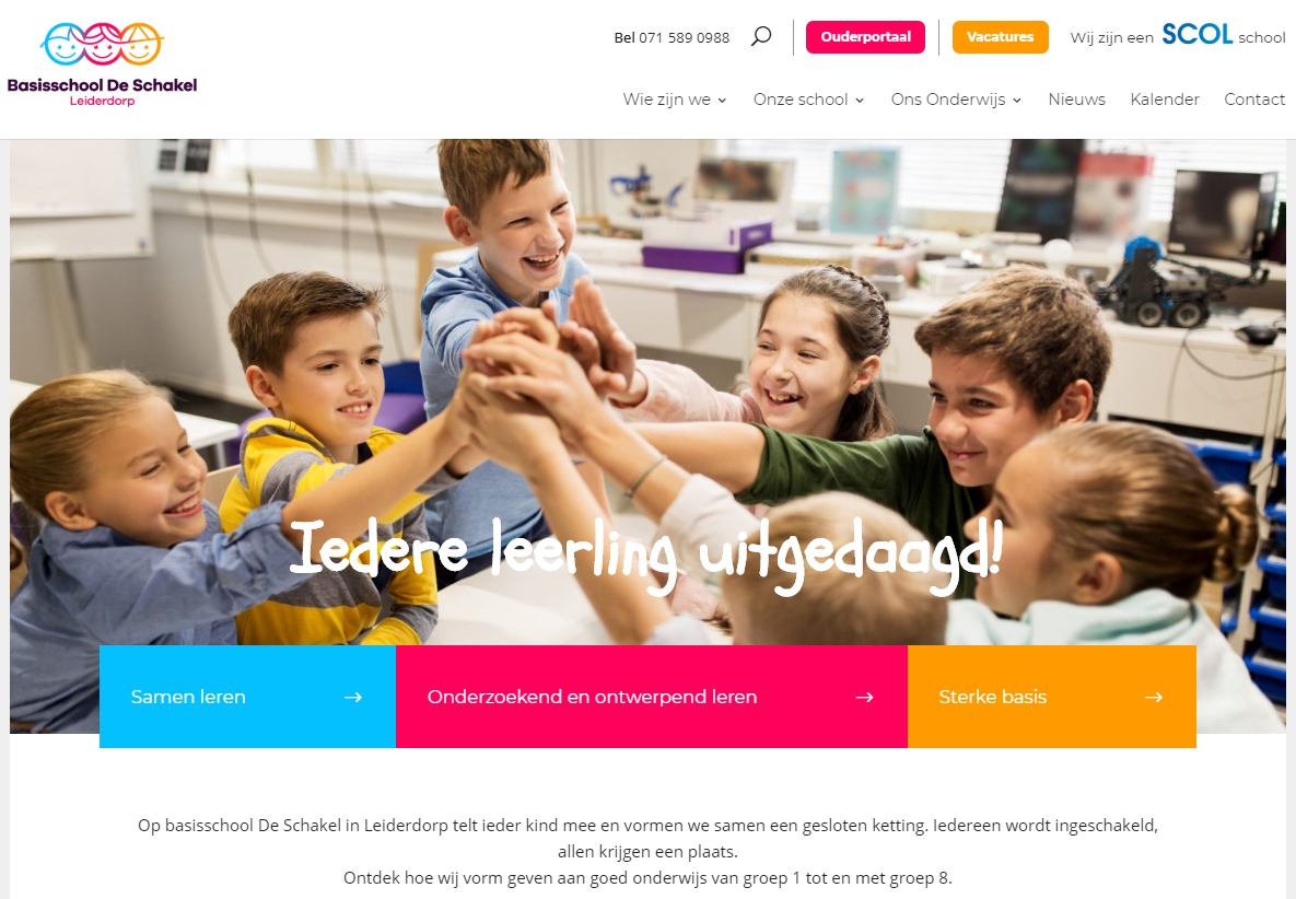 website De Schakel Leiderdorp